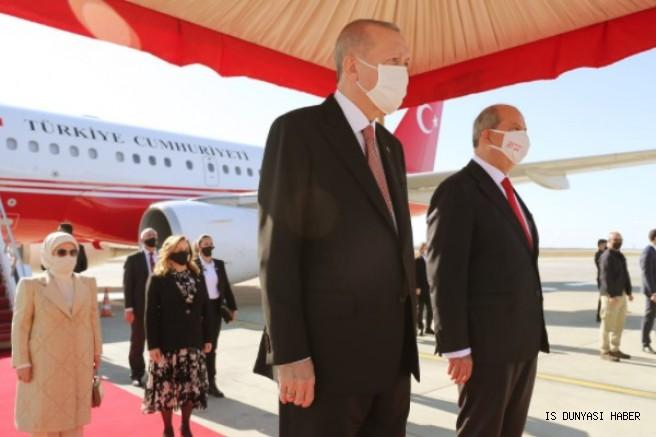Cumhurbaşkanı Erdoğan, KKTC'de 15 Kasım Cumhuriyet Bayramı Töreni'ne katıldı