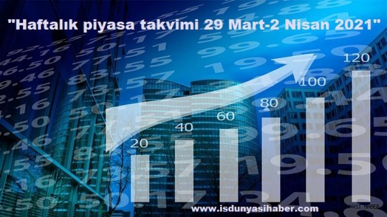 Haftalık piyasa takvimi 29 Mart-2 Nisan 2021