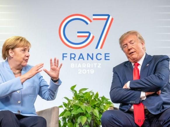 Merkel, ABD'ye gitmeyi reddetti, Trump G-7'yi erteledi