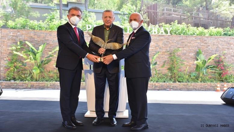 NG Phaselis Bay'ın resmi açılışı Cumhurbaşkanı Recep Tayyip Erdoğan'ın katılımıyla gerçekleşti