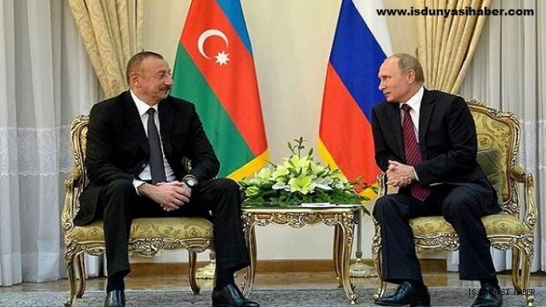 Putin Aliyev ile görüşüyor: 'Rusya ve Azerbaycan arasındaki ekonomik ilişkiler aktif olarak toparlanıyor'