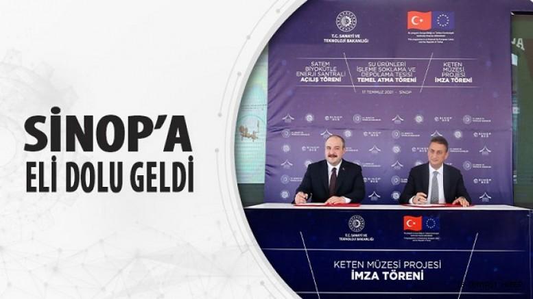 SİNOP'A ELİ DOLU GELDİ