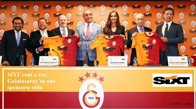 SIXT rent a car, Galatasaray'ın ana sponsoru oldu