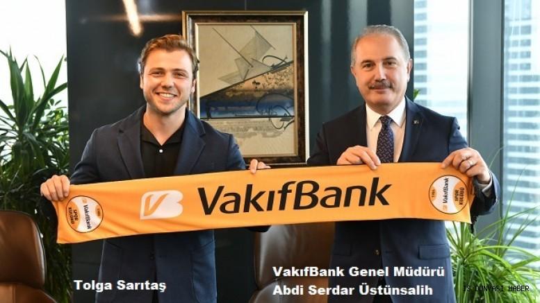 VakıfBank, marka yüzü olarak Tolga Sarıtaş ile anlaştı